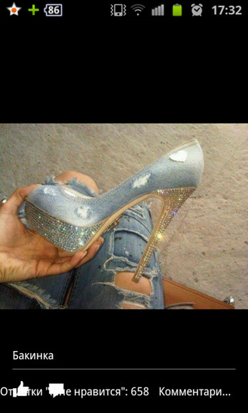 jeans shoes fashion swarovski
