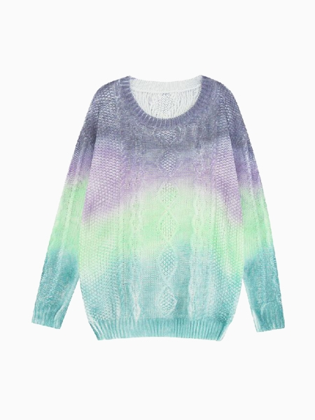 Sweater With Dip Dye In Purple | Choies