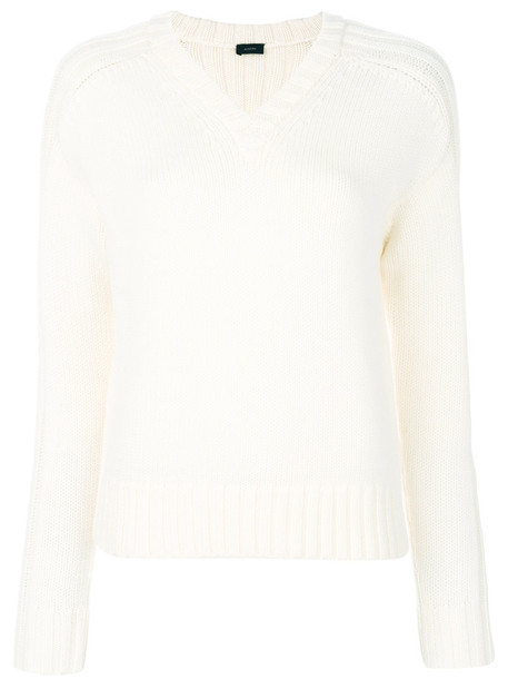 Joseph jumper women white wool knit sweater