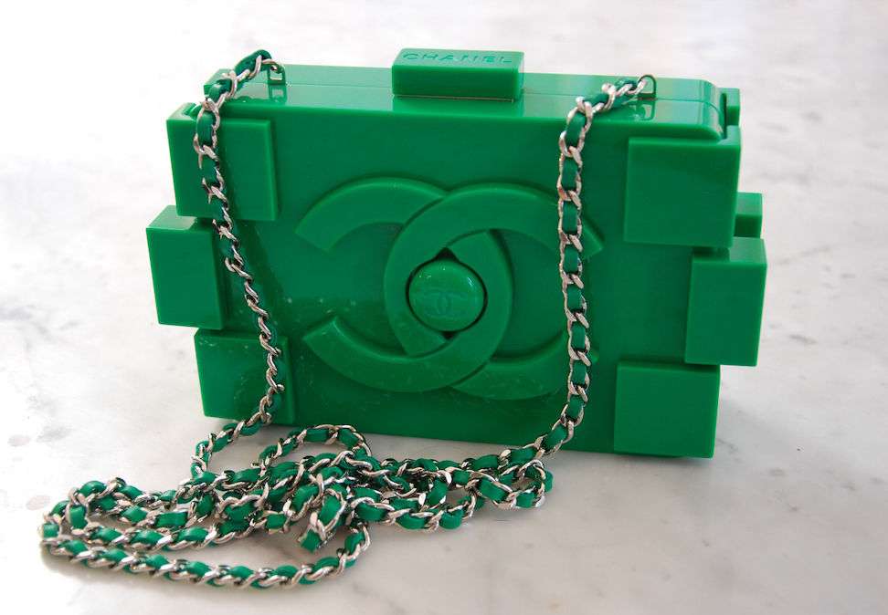 Brand New Green Chanel Lego Bag Originally $10 500 | eBay