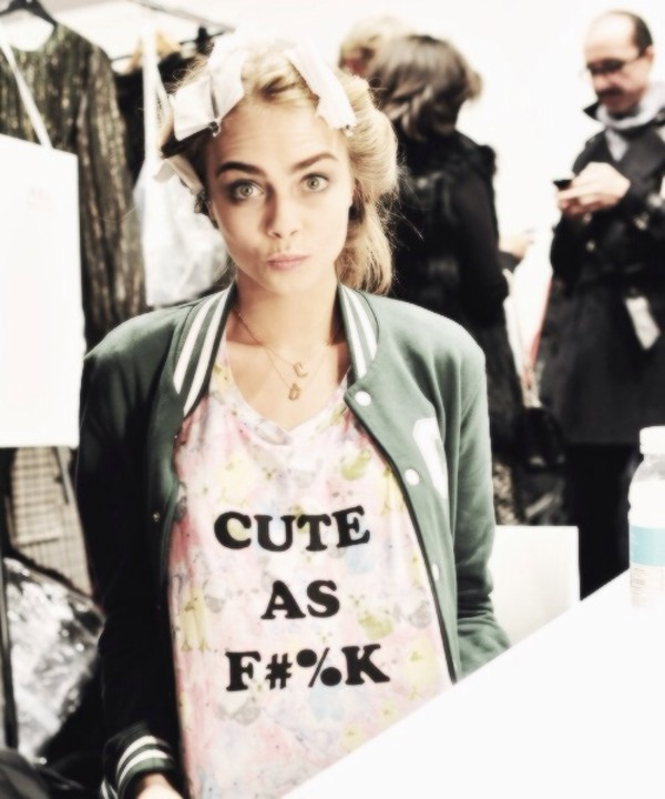 t-shirt cara delevingne cute cute as fuck fucking awesome pink pastel color colorful flowers hipster grunge floral asos pastel