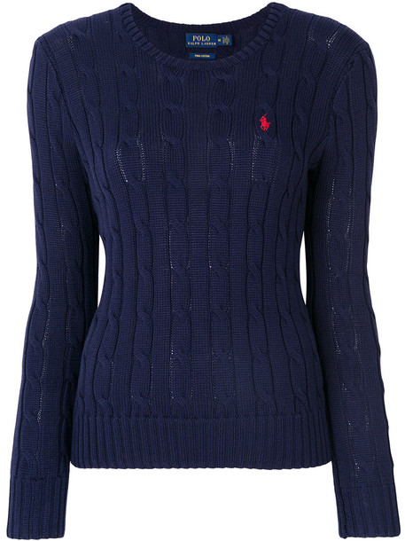 Ralph Lauren jumper women cotton blue knit sweater