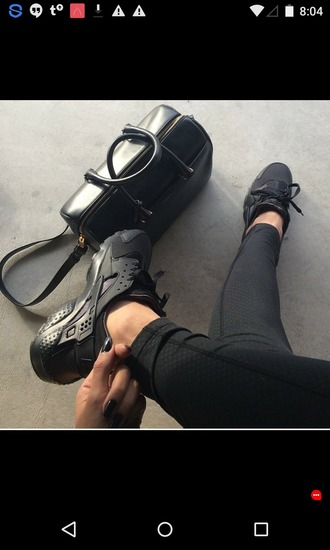 shoes black shoes nike running shoes