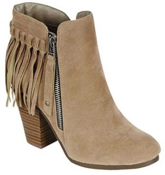 Shoes: boots, booties, fringes, fringe shoes, fall outfits ...