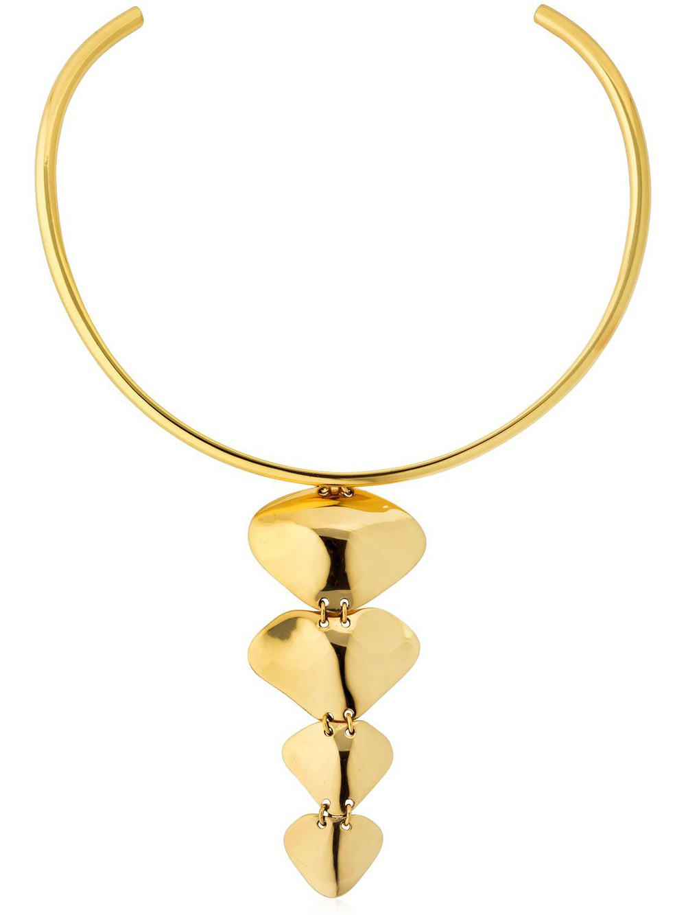 CORNELIA WEBB Molded Spine Choker in gold