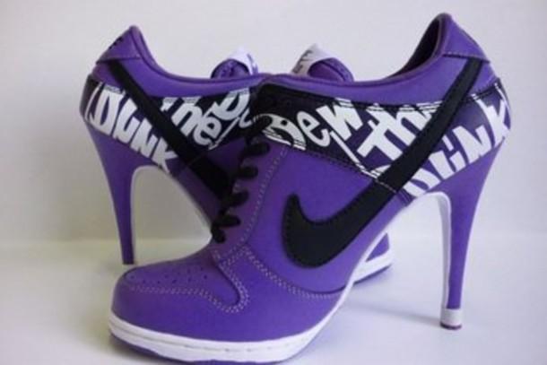 shoes purple high heels nike sport shoes nike heels nike shoes high heels
