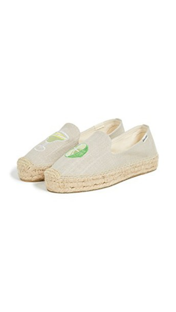 Soludos slippers smoking slippers light grey shoes