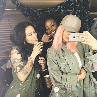jacket kylie jenner pink hair hat