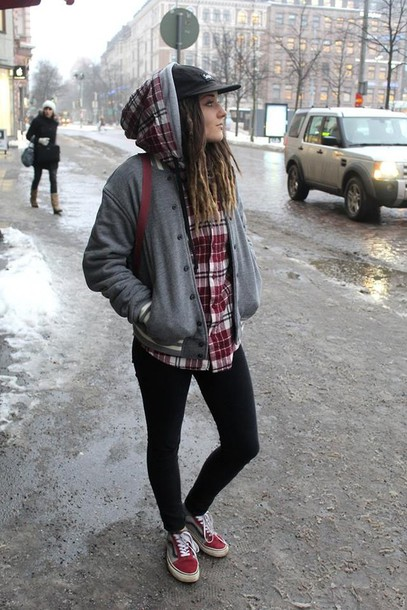 jacket baseball plaid shirt flannel street cap skinny jeans sportswear varsity