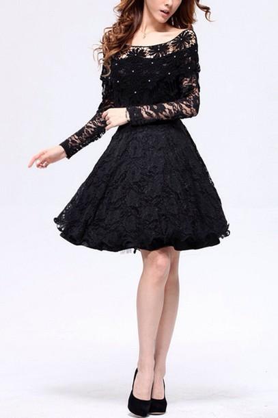 dress cute dress floral dress black dress style