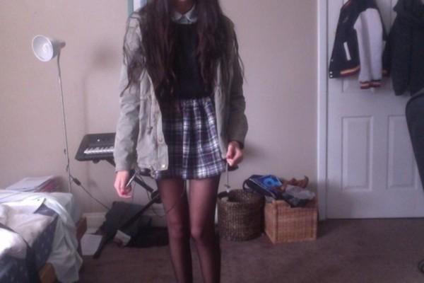 skirt tartan purple grunge hipster lmao