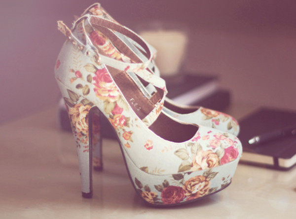 shoes flowerhighheels high heels