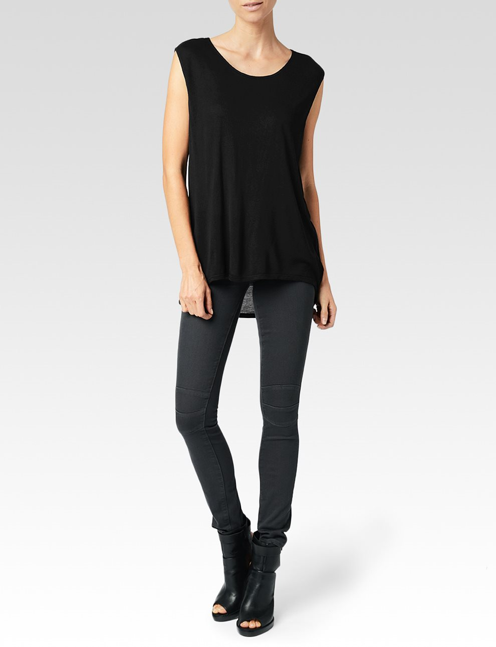 Gracelyn Tee - Black | Paige USA