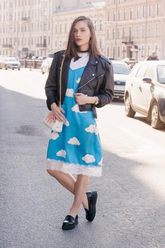 darya yakovleva whyshy | fashion blog – whyshy blogger dress jacket belt bag shirt shoes tights jewels jewelry necklace choker necklace black choker