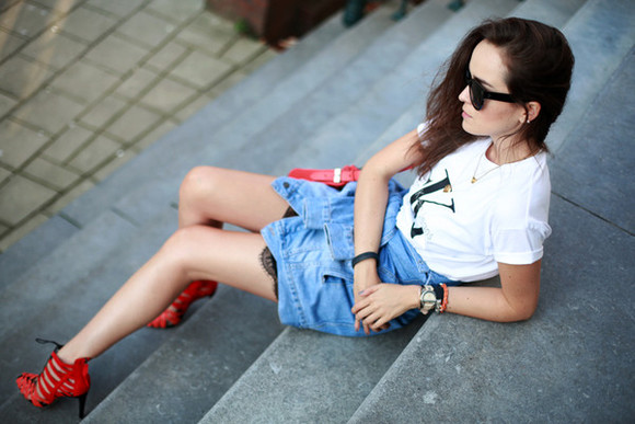 style scrapbook skirt sunglasses bag jewels shoes jacket t-shirt