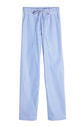 pants cotton blue