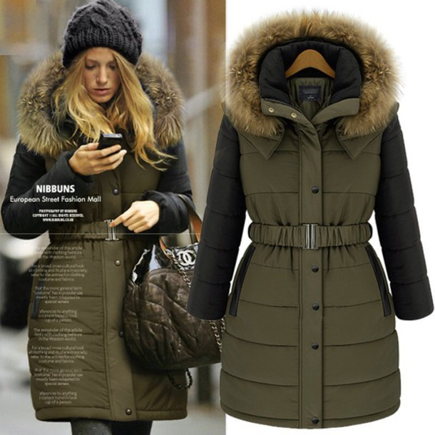 Coat: blake lively, olive green, parka, khaki, winter coat ...