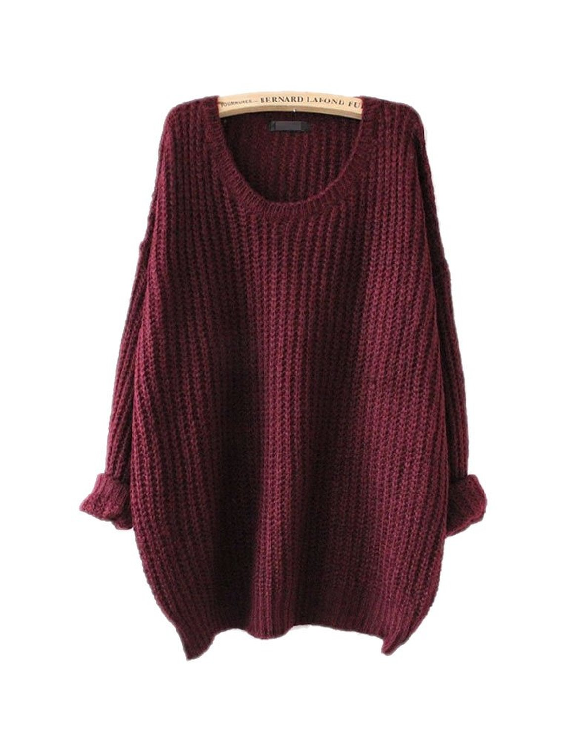 women pullovers sweater (#1 Wine Red) at Amazon Women's Clothing ...