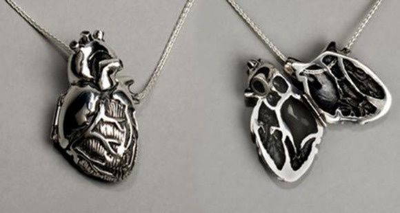 anatomical heart heart jewels necklace silver necklace heart necklace heart neck statement necklace mask necklace gold necklace