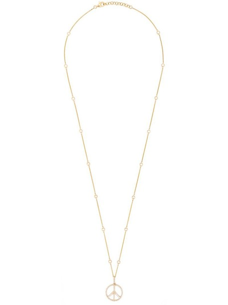 TAGLIATORE women peace necklace gold cotton grey metallic jewels