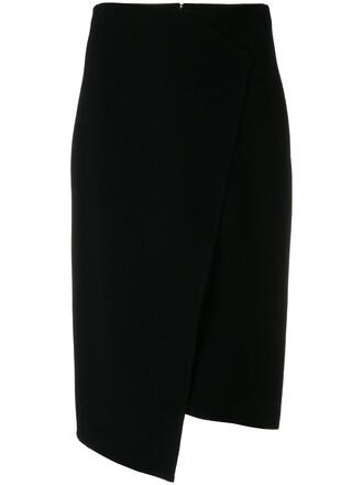 skirt pencil skirt women spandex black wool