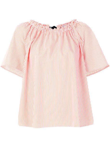 VIVETTA blouse women cotton yellow orange top