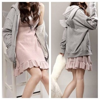 sweater clothes fashion jacket hoodie cute fall outfits kawaii coat girly