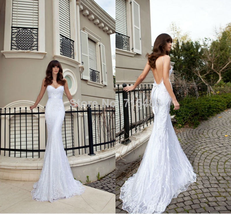Sleeveless Alibaba Sexy Cheap Lace Julie Vino Wedding Dresses Patterns in Turkey with Train Made in China 2014-in Wedding Dresses from Apparel & Accessories on Aliexpress.com