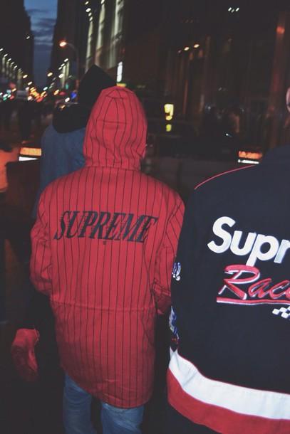 jacket supreme coat windbreaker menswear
