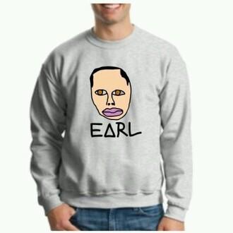 sweater crewneck crewneck sweater ofwgkta crewneck earlsweatshirt earlsweatshirt earl