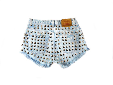 Hollywood Dream 320 Studded Shorts - Arad Denim