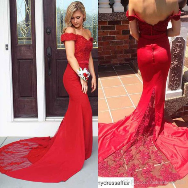 Dress 2016 Prom Dresses Long Prom Dress Mermaid Prom Dress Red