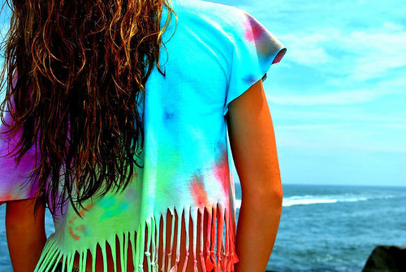 fringe help me find it (: tyedye tye dye shirt