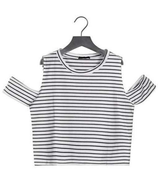 tank top grunge stripes black black and white white indie top cropped crop tops