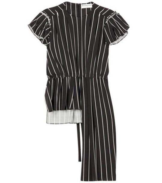 Balenciaga top striped top black