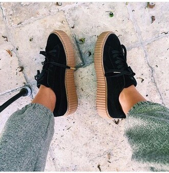 shoes puma rihanna suede sneakers