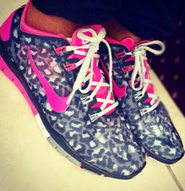 1dbec5ef8cee shoes nike running shoes leopard print leopard nikes hot pink