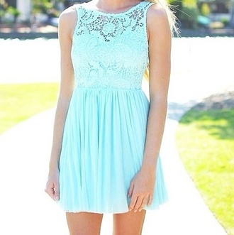 dress mini dress mint lace