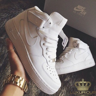 shoes white nike high tops nike air