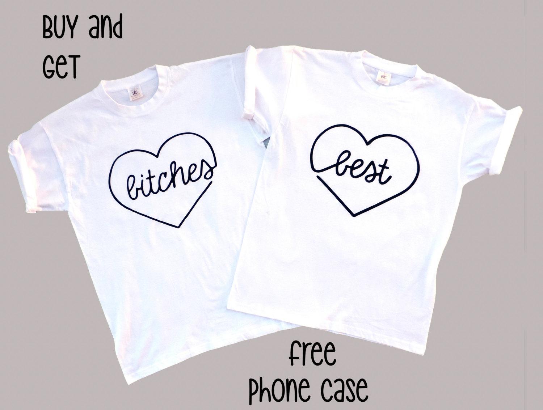 Migliori cagne camicie, migliori femmine corrispondenti coppie camicie, 2 maglie impostare - 100% cotone Unisex, migliori cagne Tshirts