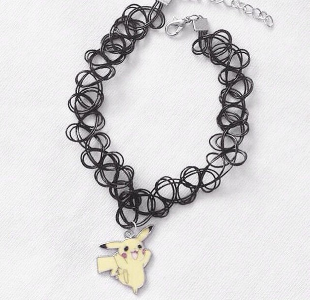 jewels grunge pokemon choker necklace