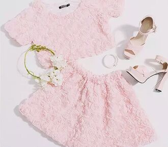 shoes heels high heel pastel pink pastel pink vintage vintage shoes cute cute high heels top romper pink dress two piece dress set dress bleu red green one of this colors