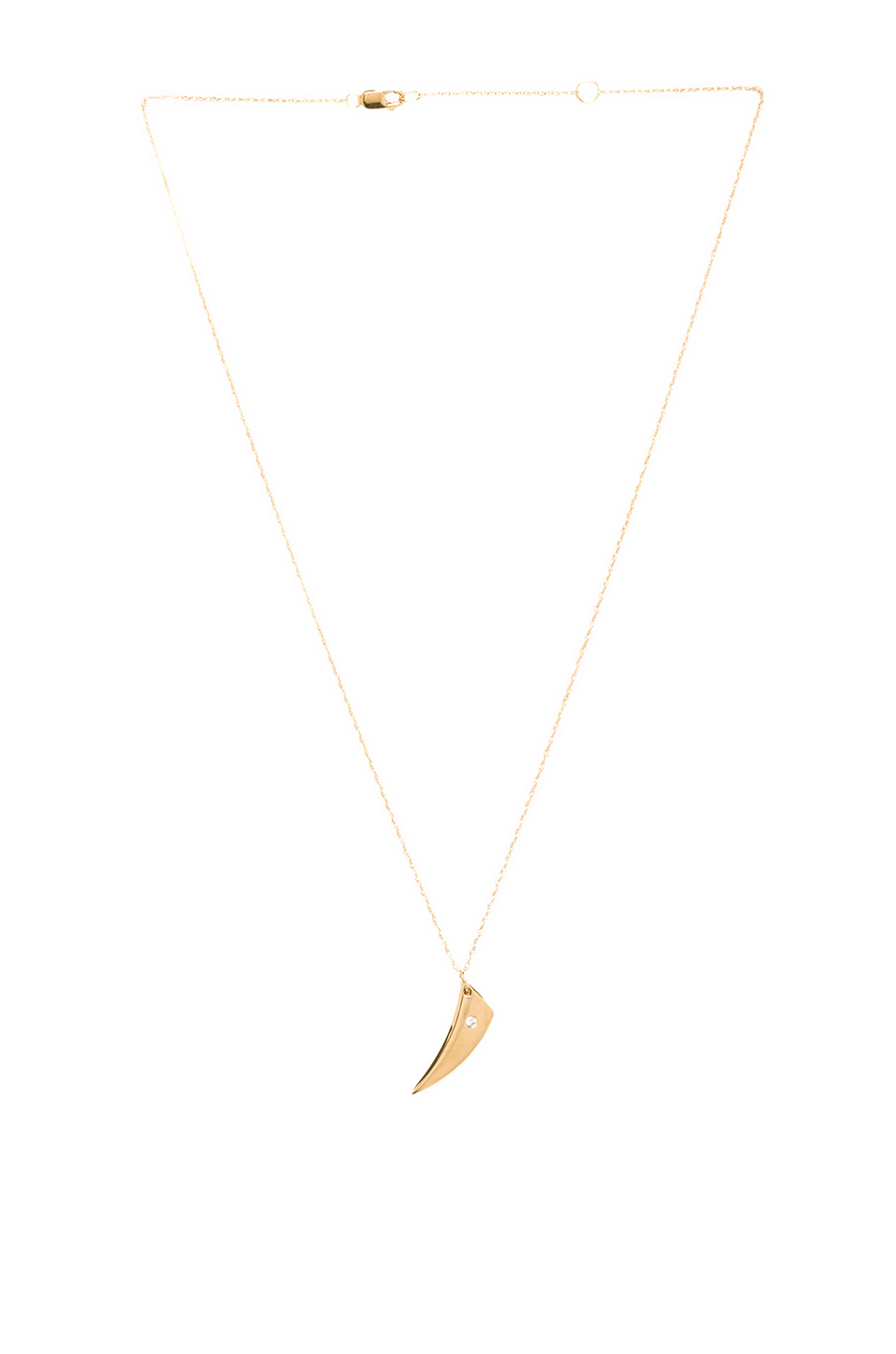 Jennifer Zeuner Hunter Small V Necklace in Yellow | REVOLVE