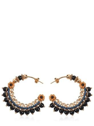 embellished earrings hoop earrings gold jewels