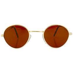 HARDING Gold/Rust Round Sunglasses