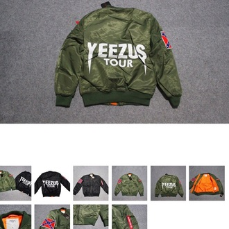 jacket yeezus bomber jacket