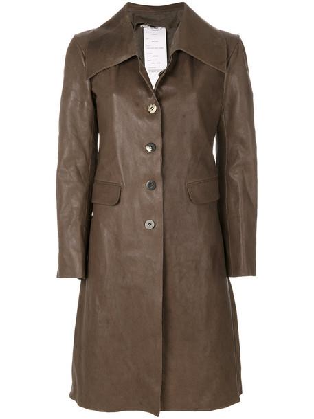coat women leather brown camel