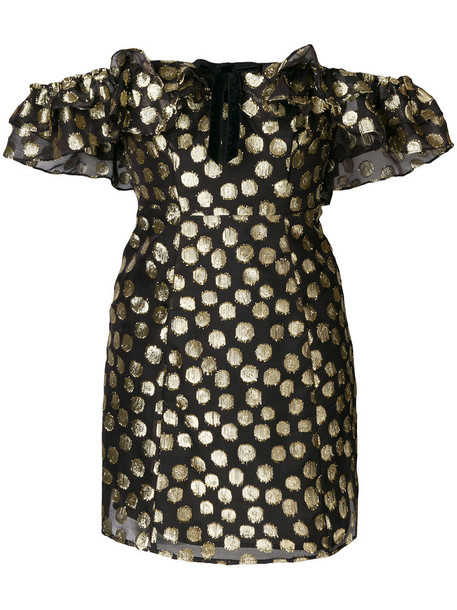 For Love and Lemons dress mini dress mini ruffle women spandex black