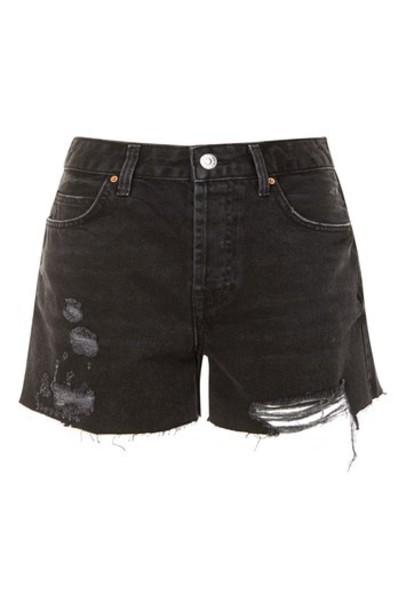 Topshop shorts denim shorts denim boyfriend black