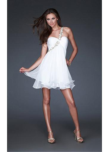 Buy Discount white short/mini one shoulder Occasion Dresses from  Edreambridal